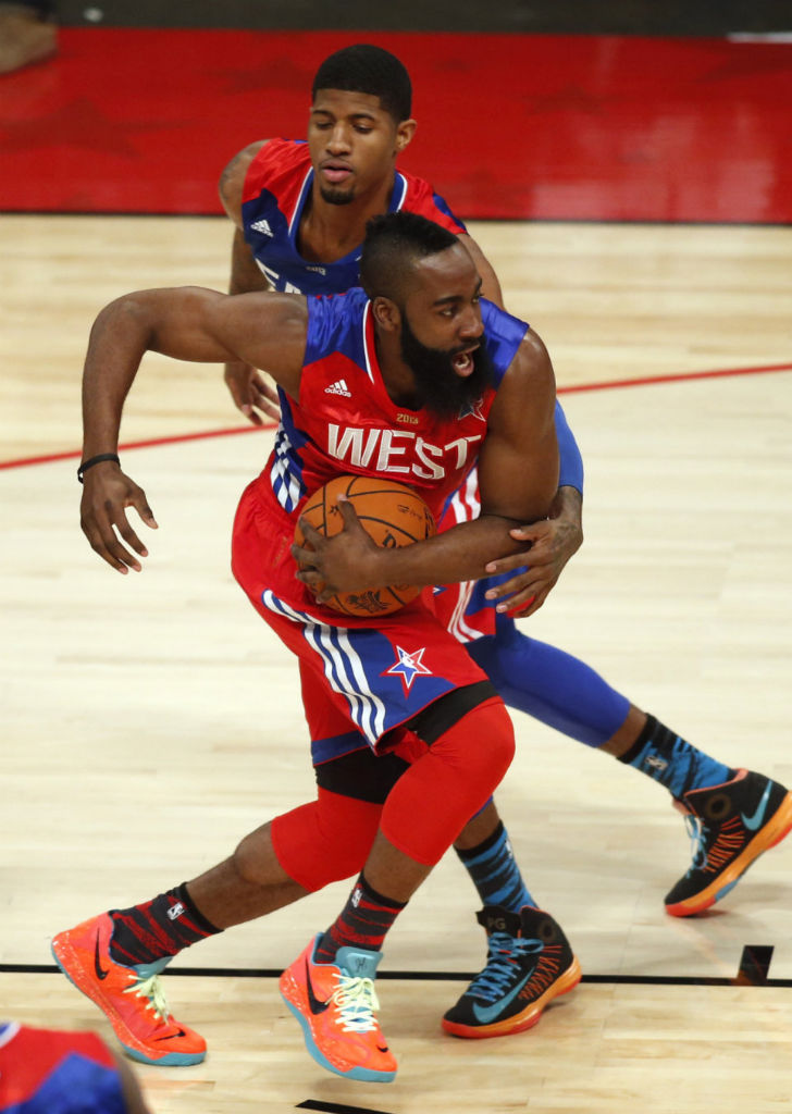 James Harden wearing Nike Zoom Hyperfuse 2012 Low PE (1)