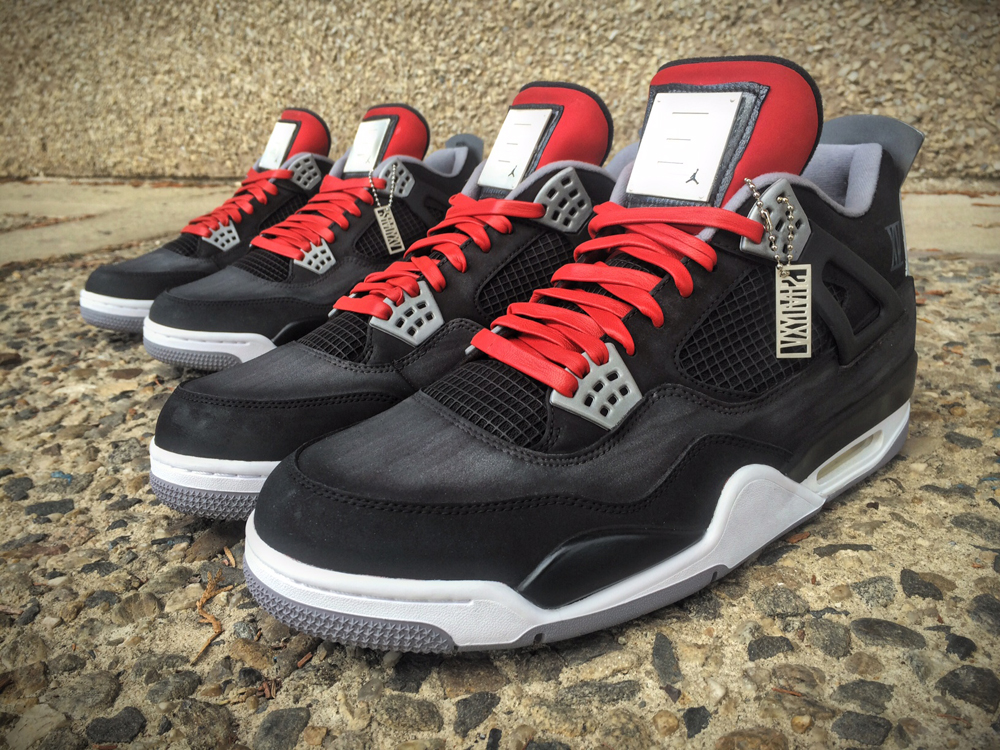 new styles 16687 239d2 ... Check Out This Bape Inspired Air Jordan 4 Custom by Ammoskunk! Eminem  ordered these custom Jordans from Mache to celebrate Shady XV.