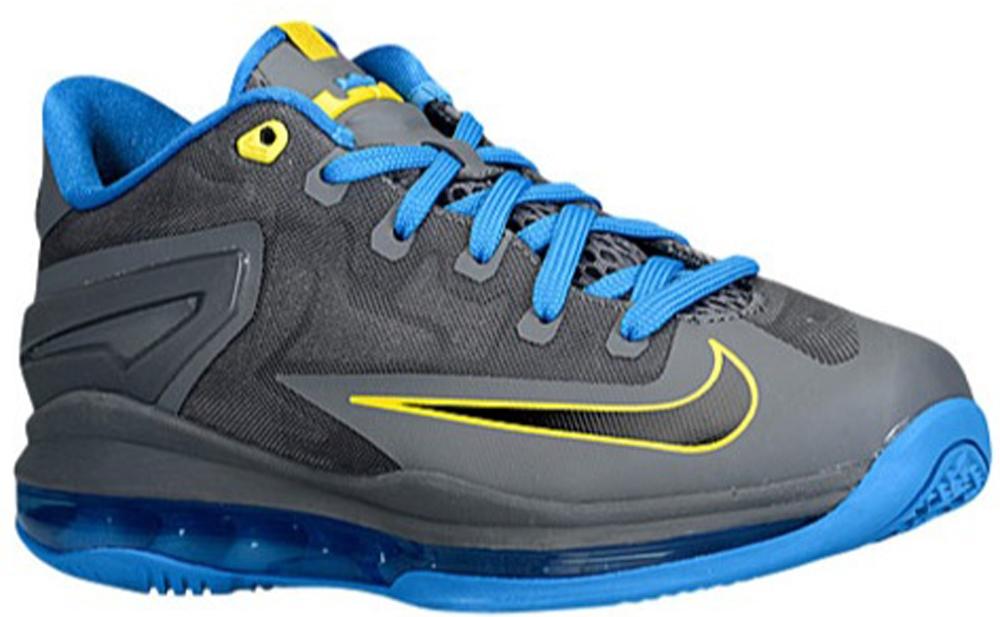 Nike LeBron 11 Low GS Dark Grey/Black-Photo Blue-Tour Yellow