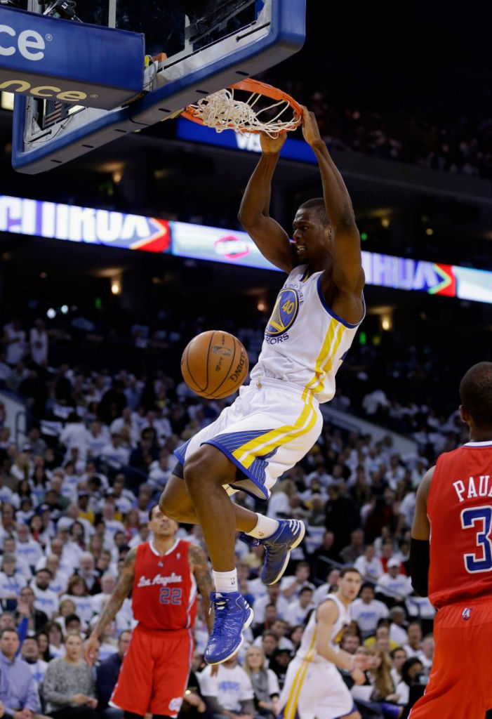 Harrison Barnes wearing adidas Rose 773 Blue White