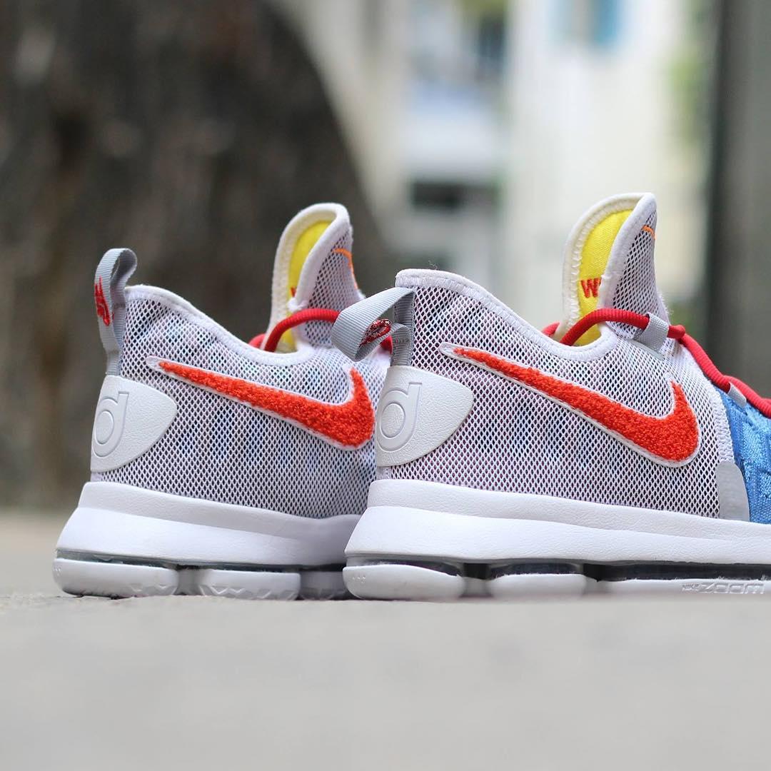 Nike KD 9 Texas Longhorns Chenille PE Heel 9d71abac27