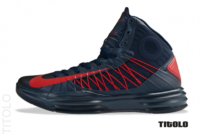 info for a7145 099de Nike Lunar Hyperdunk 2012 Obsidian University Red USA 524934-400 (1)