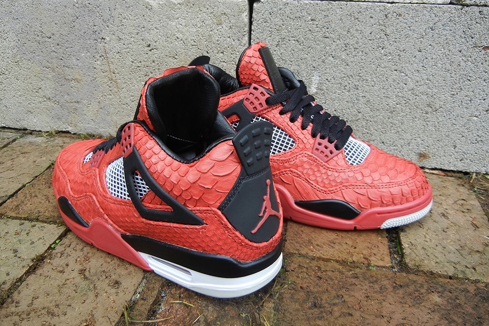 "Air Jordan IV 4 Retro ""Red Python"" by JBF Customs (3)"