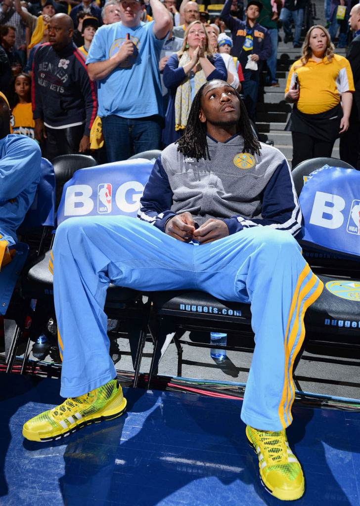 Kenneth Faried wearing adidas Crazyquick Electricity