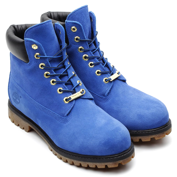 atmos x Timberland 6 inch boot in blue suede