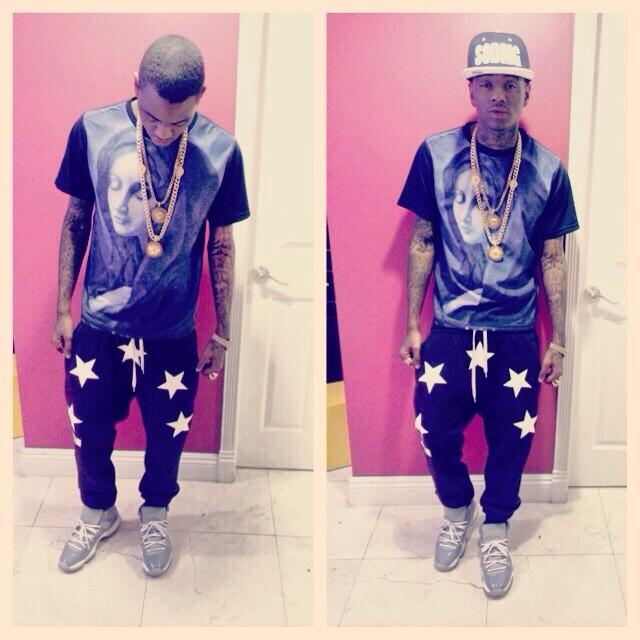 Soulja Boy wearing Air Jordan 11 Cool Grey