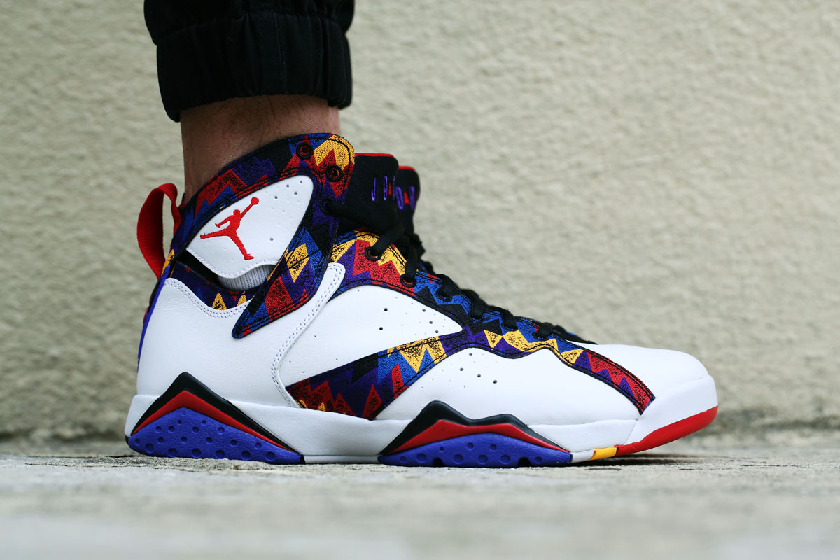 89494b5149603e Check Out the  Nothing But Net  Air Jordan 7 On-Foot