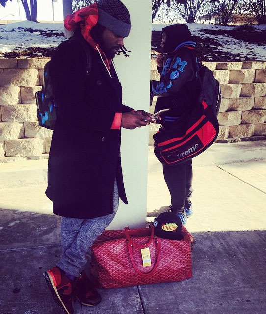 Wale wearing Valentino Sneakers