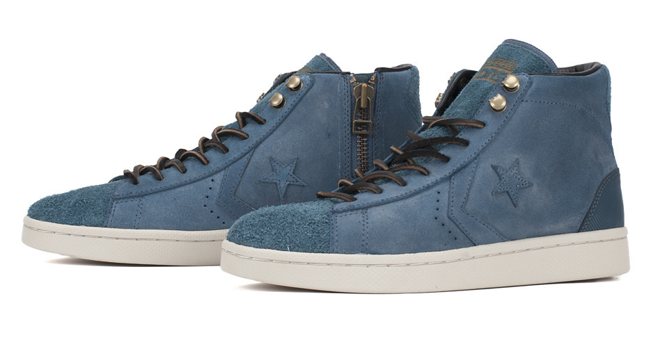Converse First String Pro Leather Zip in Orion Blue