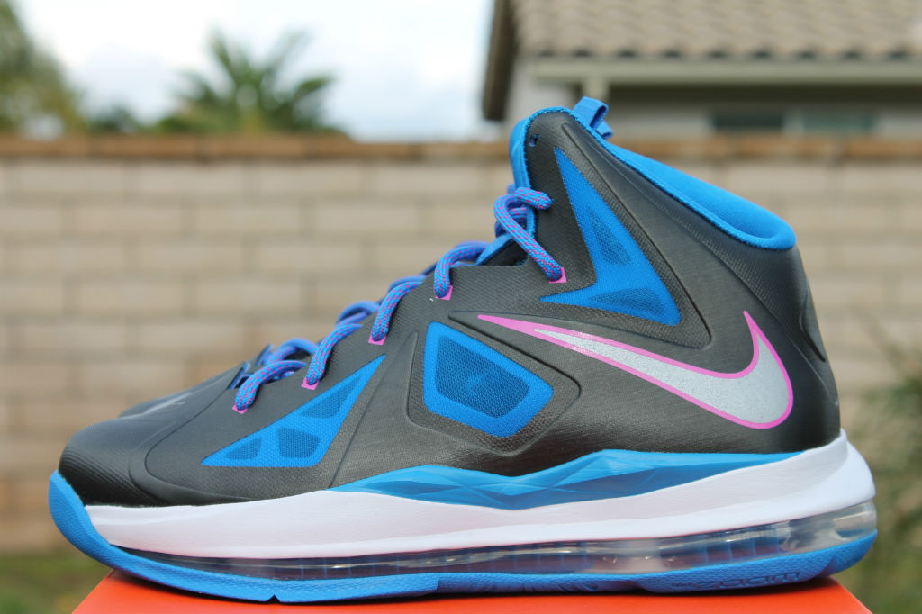 online store 16b79 9fd55 Nike LeBron X 10 GS Black Metallic Silver Photo Blue White 543564-005 (3