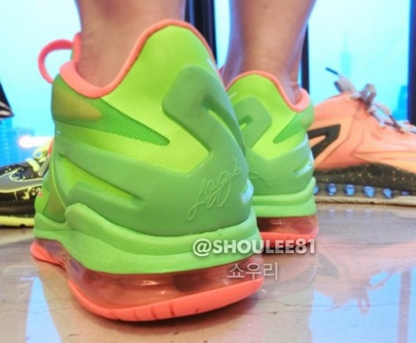 meet af2a7 7f809 ... with an on-foot look at Volt Bright Orange LeBron XI Low GS. No release  details just yet, but be sure to stick with Sole Collector for official  details.