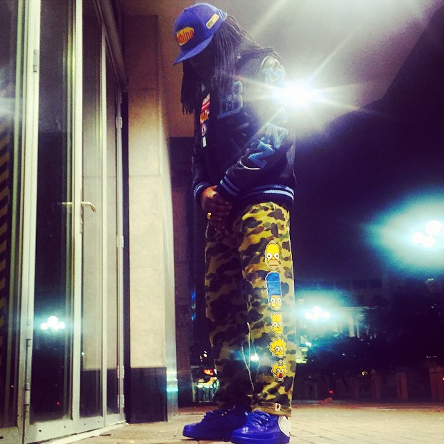 Wale wearing Air Jordan II 2 Don C