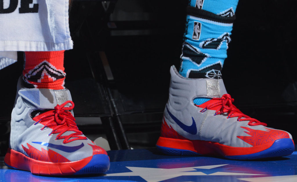 Michael Carter-Williams wearing Nike Zoom HyperRev PE
