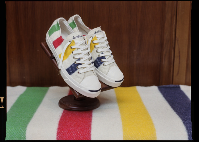 hudsons bay converse jack purcell in white red green and yellow