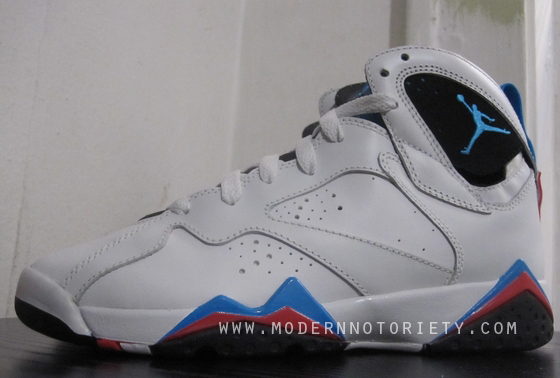 outlet store 5be39 b7dc1 Air Jordan Retro 7 White Orion Blue Black Infrared 304775-105