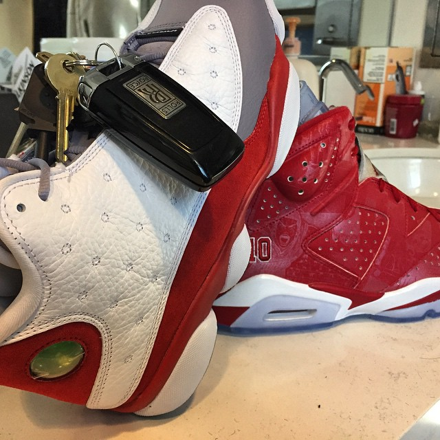 Bow Wow Picks Up Air Jordan XIII 13 Grey Toe & Slam Dunk x Air Jordan VI 6