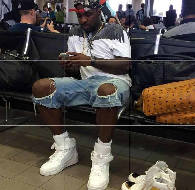 Ty Lawson wearing Givenchy High-Top Sneakers