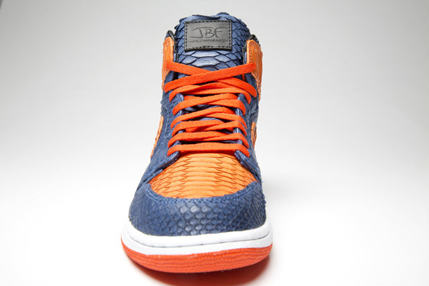 Air Jordan I 1 Knicks Python for DJ Clark Kent by JBF Customs (5)