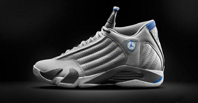 7338c26fd47a Air Jordan XIV 14 Wolf Grey Sport Blue Release Date 487471-004