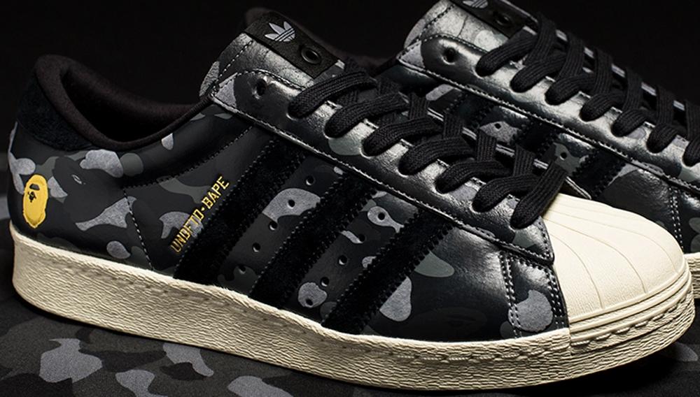 BAPE x adidas Originals Superstar 80s Black Camo
