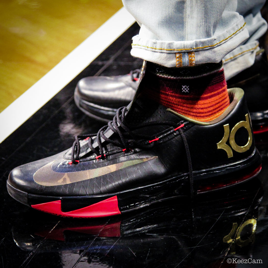 Nike KD 6 Black Camouflage Gold