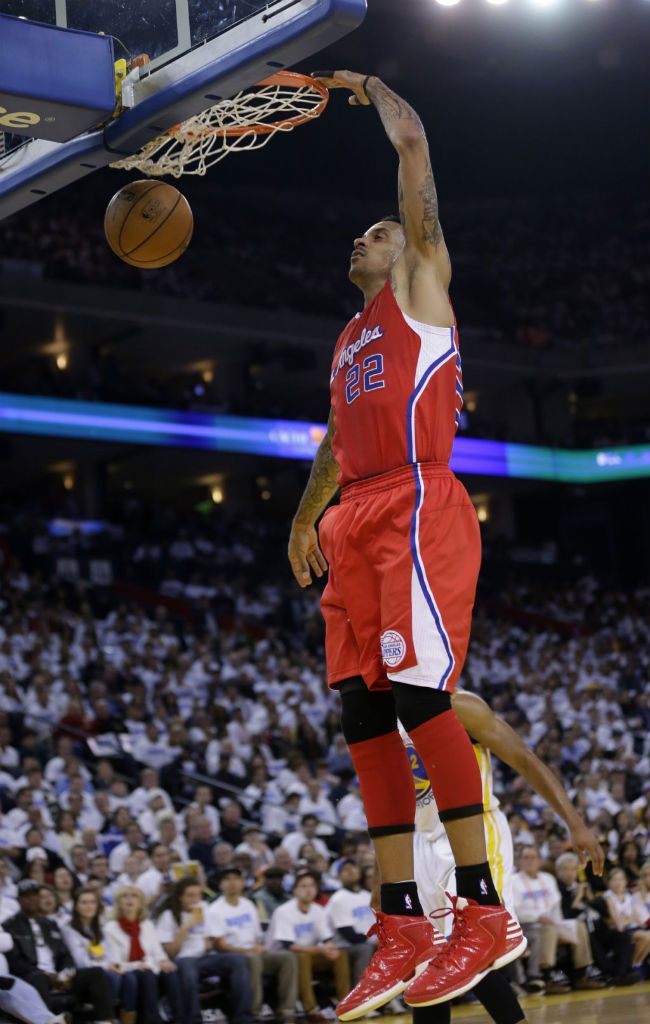 Matt Barnes wearing adidas Rose 773 Red White