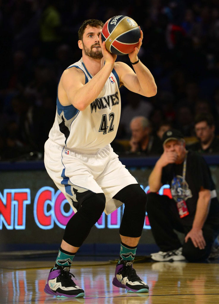 Kevin Love wearing 361 All-Star PE
