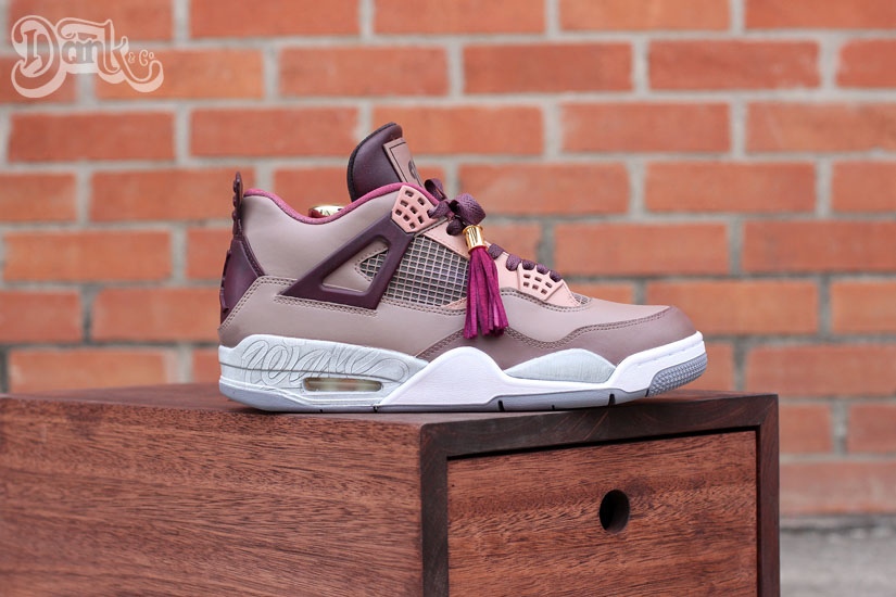 Air Jordan IV 4 Louis Vuitton Don for Wale by Dank Customs (1)