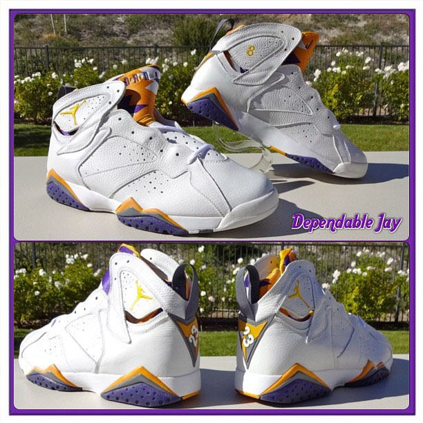 Kobe Bryant's Lakers 'Home' Air Jordan 7 PE