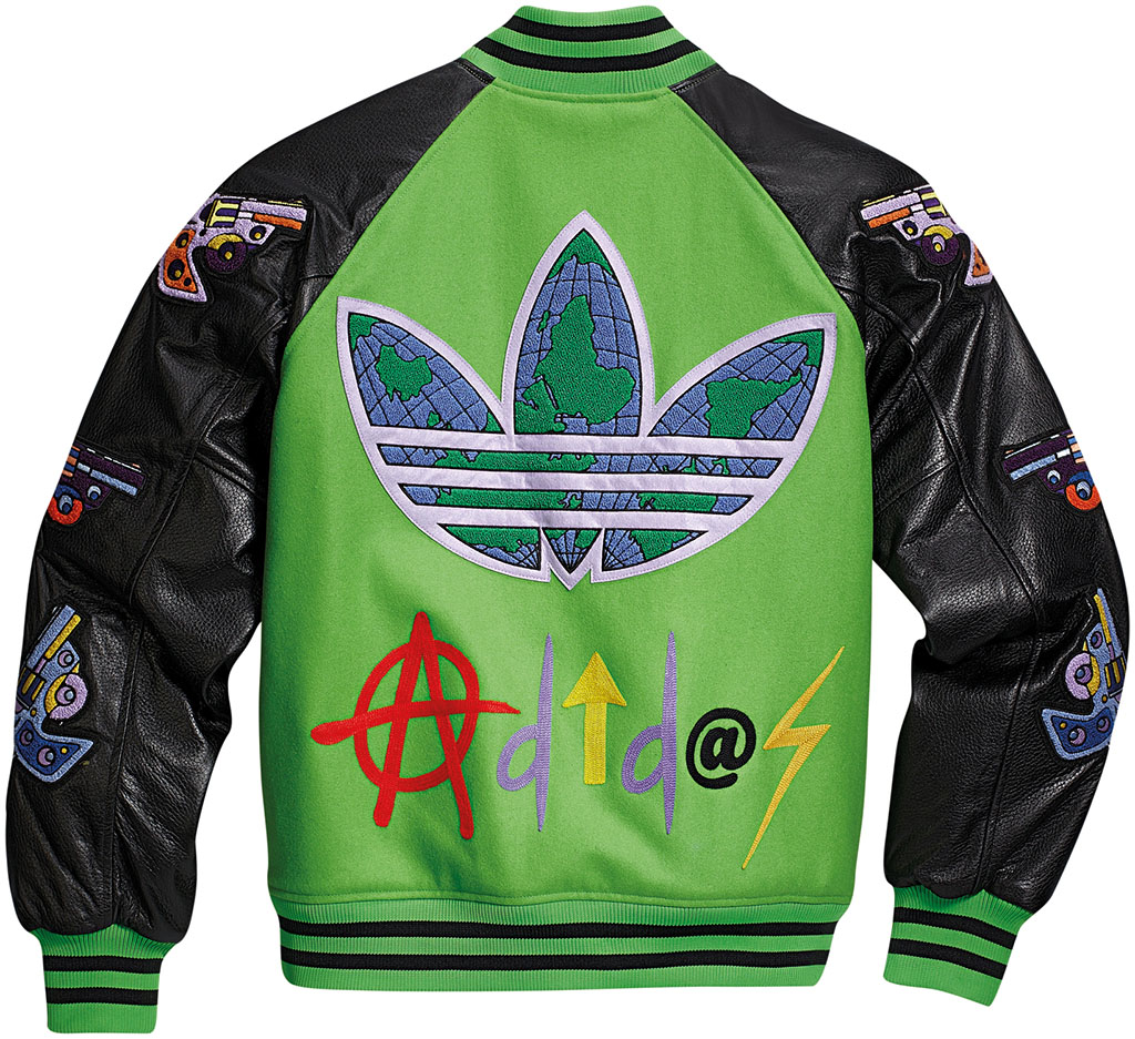 adidas Originals JS Varsity Jacket Black Green W61470 (2)