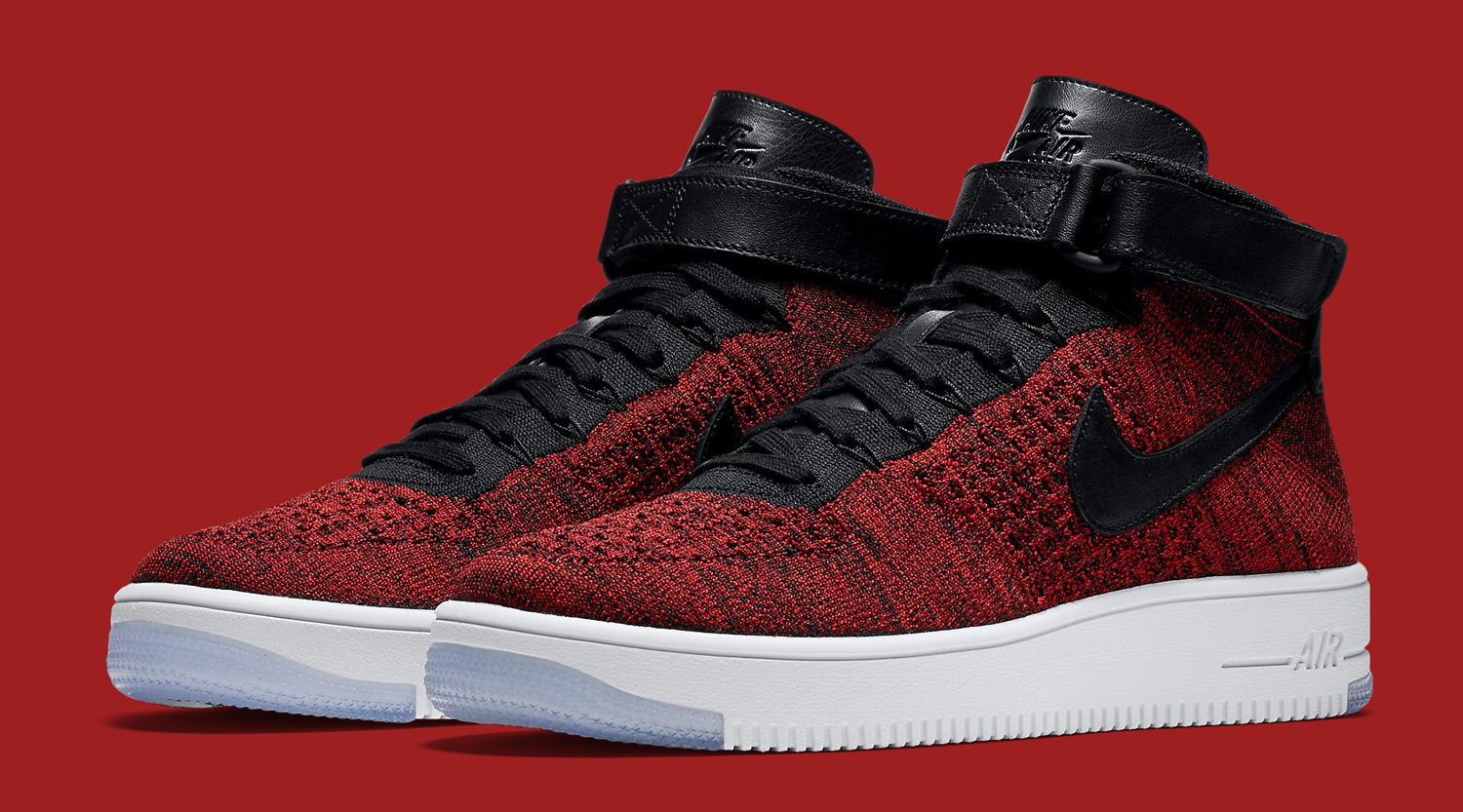 Nike Air Air Force 1 De Milieu Rouge