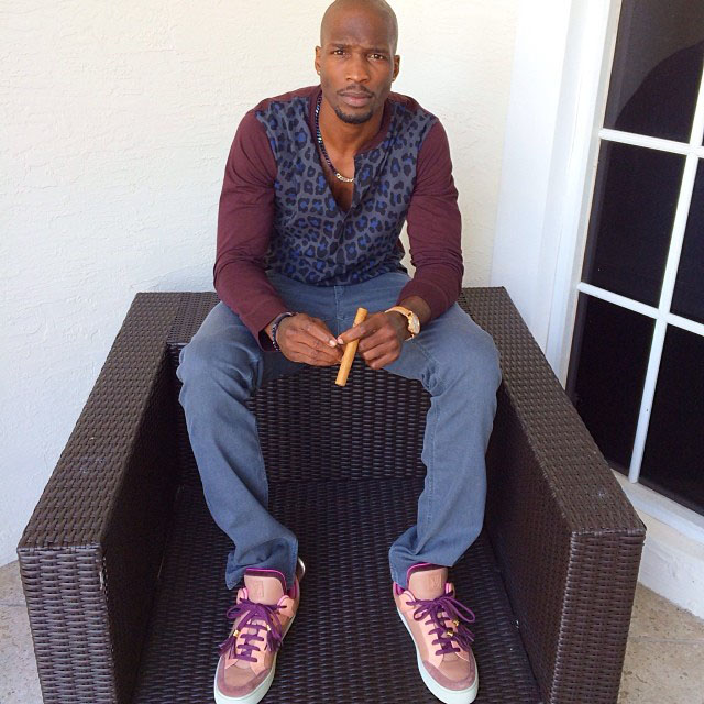 Chad Johnson wearing Kanye West x Louis Vuitton Don