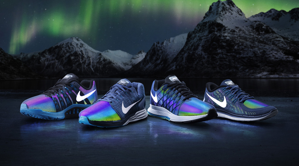 online store a63ca b8422 Nike Preps for Dark Days With Multicolor Reflective Runners ...