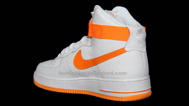 Nike Air Force 1 High White Vivid Orange 315121-180 (5)