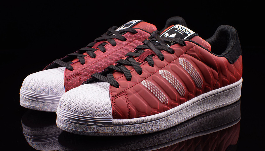 adidas superstar plain red