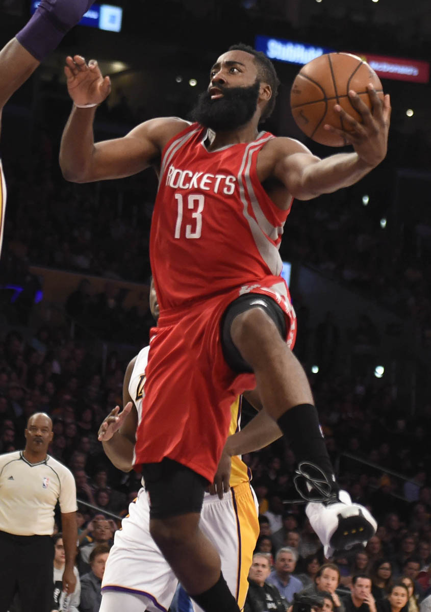 reputable site cd4b6 6b95a James Harden Wears adidas Crazy Kobe 1 White (3)