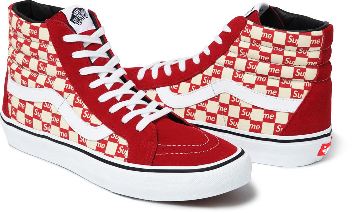 d9e2455b76 Image via Supreme Supreme Vans Checkerboard Red