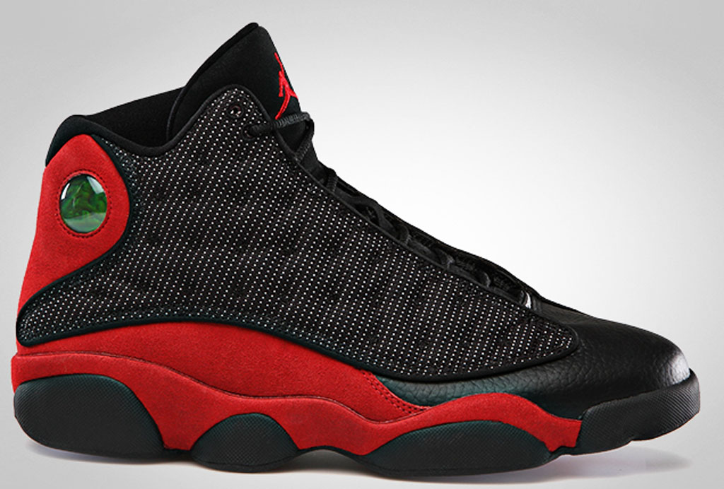 Mens Air Jordan 13 Jordan 23 Black Red shoes