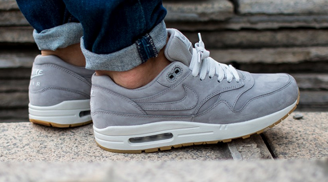 Nike Air Max 1 Grey Nubuck