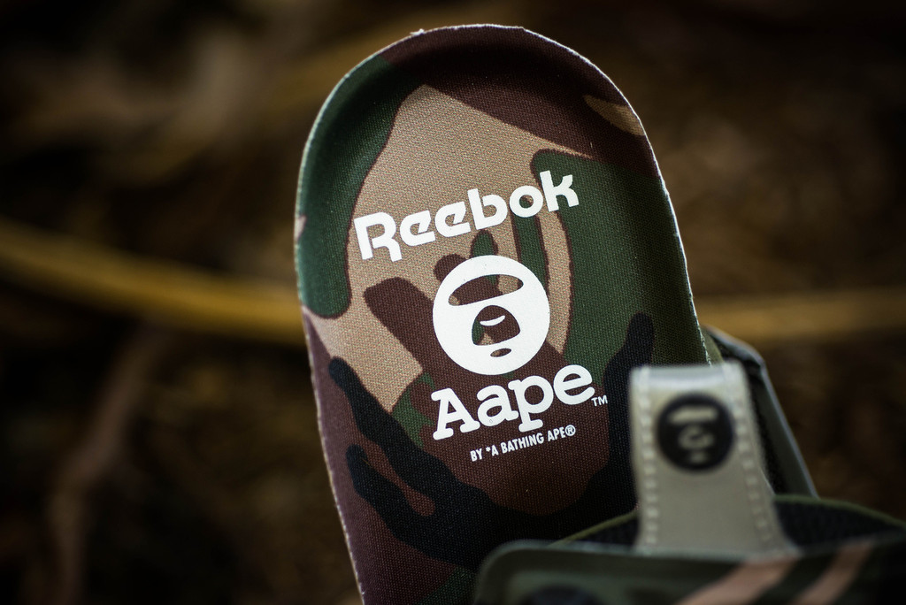 aape by a bathing ape x reebok pump fury sockliner