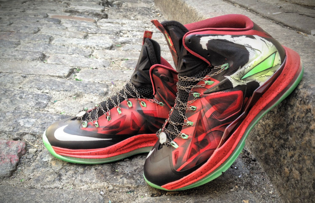 "Nike LeBron X ""Spawn"" by Mache Custom Kicks (1)"