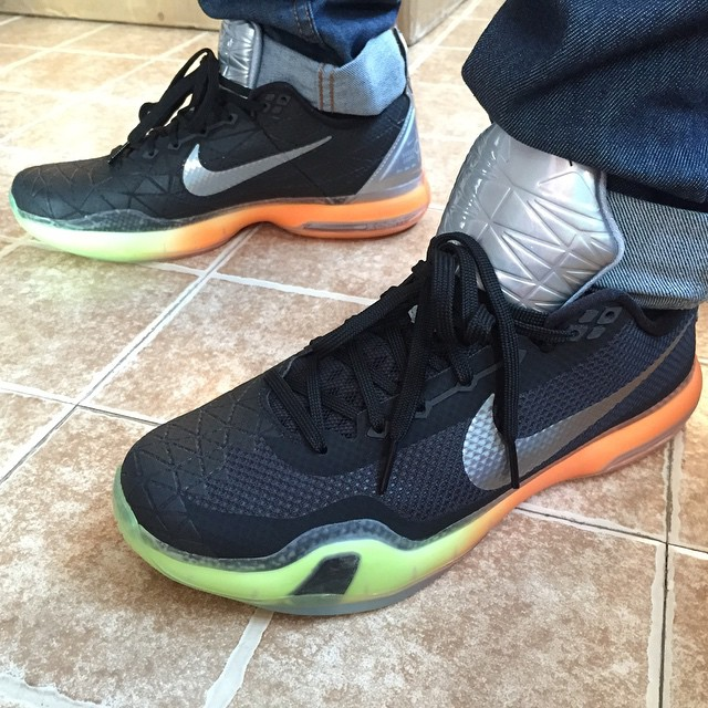 2015 Cheap Nike Kobe 10 All Star Black Silver Orange Volt