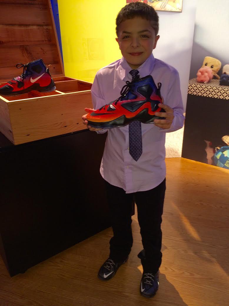 official photos 1b181 6f6bb Kian Safholm s Doernbecher Nike LeBron 13 (2)