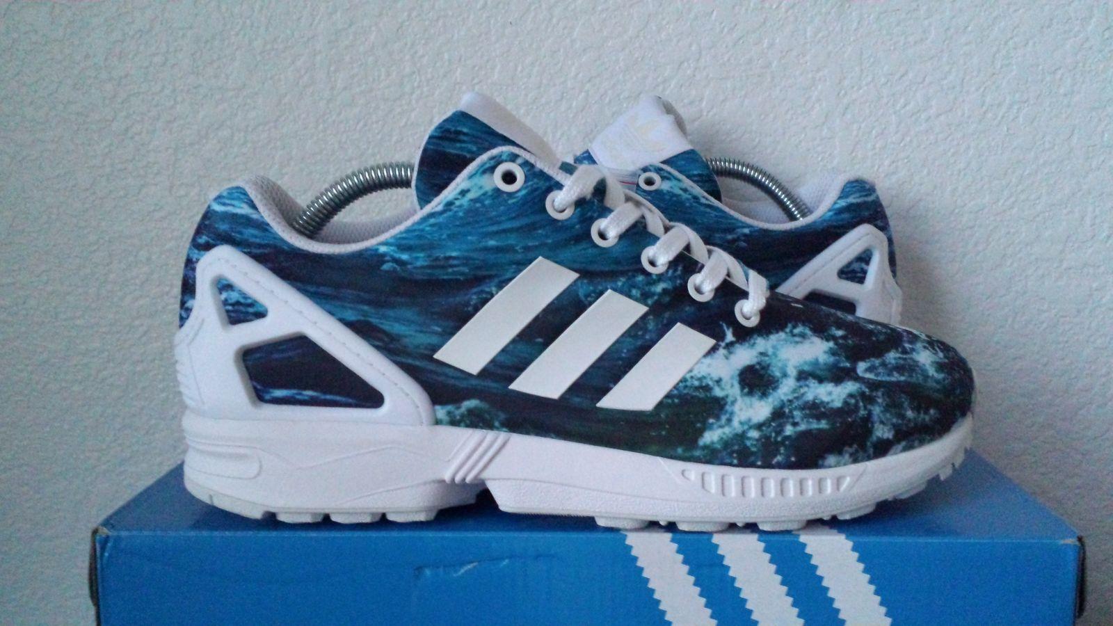 adidas zx flux blue sea