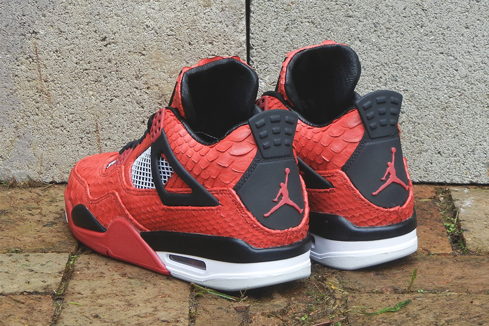 "Air Jordan IV 4 Retro ""Red Python"" by JBF Customs (8)"