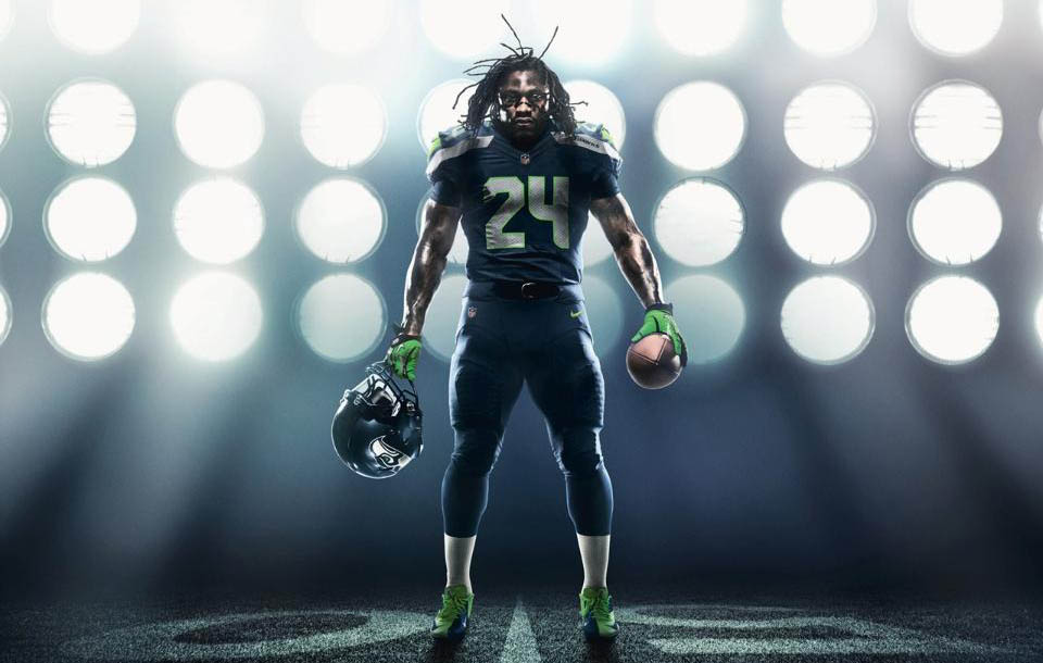 fcb082f68 Nike Unveils New Seattle Seahawks Football Uniforms