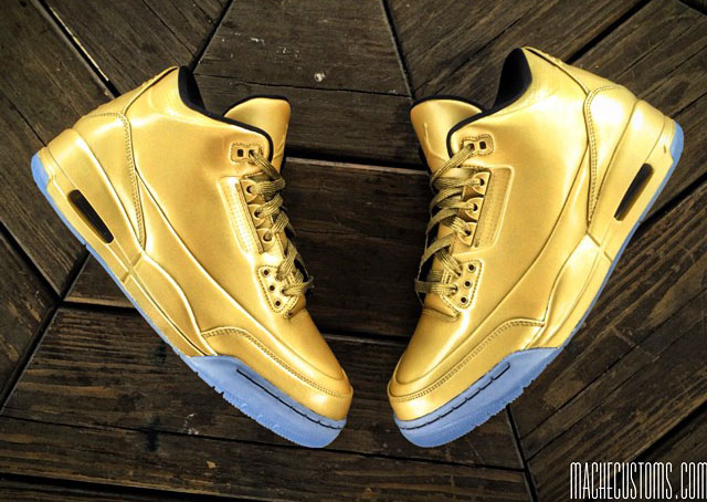 Air Jordan III 3 Gold by Mache Custom Kicks (1)