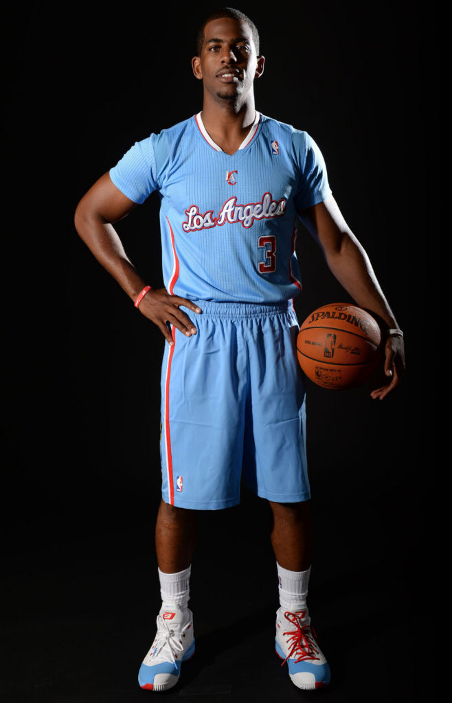 Chris Paul wearing Jordan CP3.VII 7 Back in Blue