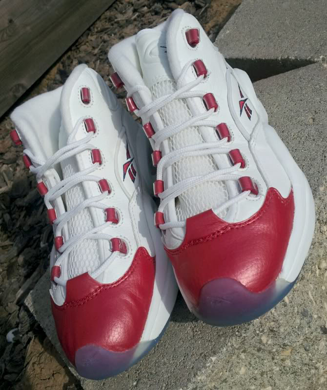 Reebok Question White/Pearlized Red OG
