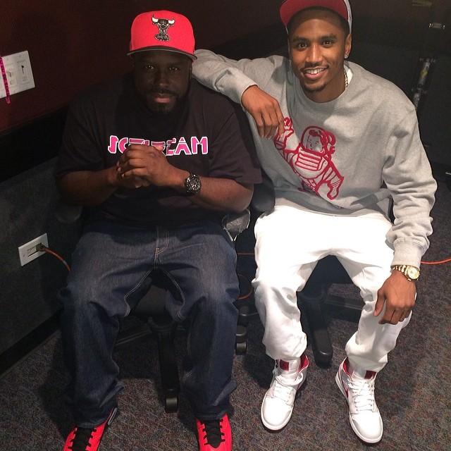 1bde4c0cd87a DJ Funk Flex wearing Air Jordan I 1 Mid